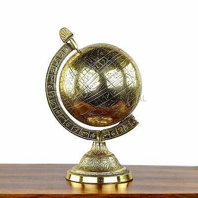 Globes Nautical Decorative Hanging Standing Solid Antique Brushed Brass NGN100