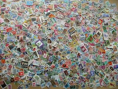 One Thousand Worldwide Stamps Off Paper Collection