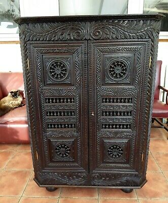 Bretton French Carved  Corner Cupboard 1830 Free Shipping England