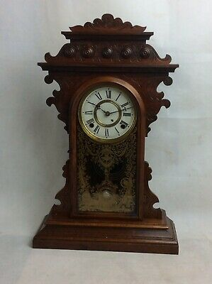 Handsome Vintage E. N. Welch, USA. Shelf Mantle Clock For Repair