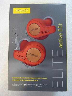 Jabra Elite Active 65t Alexa True Wireless Sport Earbuds with Charging Case NEW