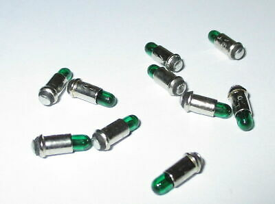 """Replacement Lamps Micro Lamps 2, 8x4mm - Green - 10 Pieces """" New"""