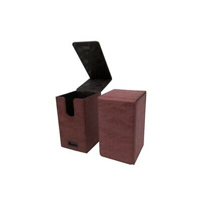 Ultra Pro 85764 UP - Alcove Tower Suede Collection Deck Box - Ruby