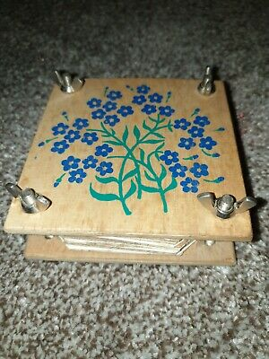 wooden flower press. Handmade in scotland. Campbell village trust