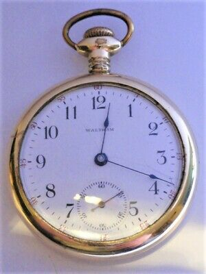 WALTHAM AWWCo 16s MODEL 1899  GRADE No. 620 15 JEWEL POCKET WATCH RUNNING STRONG