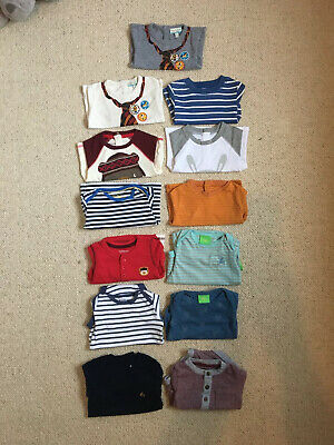 Baby Boys Clothing Bundle 3-6 Months Long Sleeved Tops & Vests