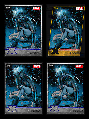 STORM X-MEN WEEKLY GOLD DIE-CUT + 3 SILVER Topps MARVEL COLLECT DIGITAL CARD
