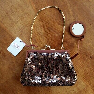 Vintage Unused Dents Evening Bag with Attached Mirror - Still Tagged - 297