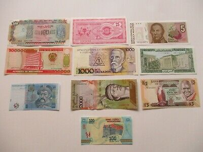 Assorted Mixture of Foreign Banknotes World Currency Lots