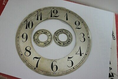 "Small Bkt.clock 5.25"" silvered/engraved chapter ring."