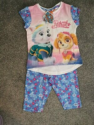 Girls Paw Patrol Shorts & T-Shirt Outfit Age 3 Yrs Bnwt