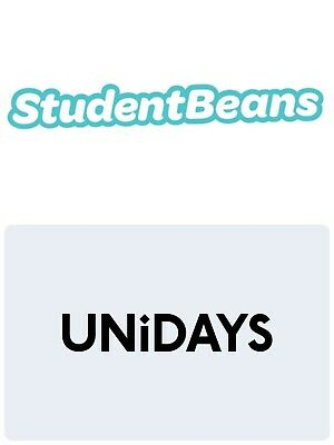 Any UNiDAYS or STUDENT BEANS Discount code