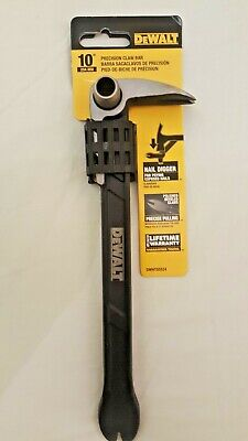 "DeWALT 10"" Precise Claw Crow Bar Pinch Nail Puller Digger Pry Wrecking DWHT55524"