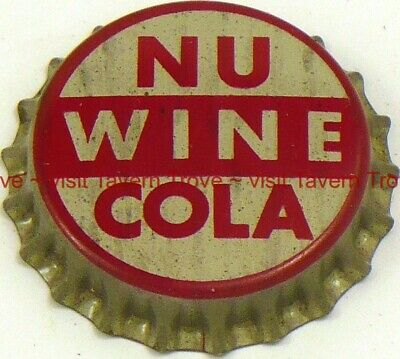1950s no bottler MISSION FRUIT-O BEVERAGE SODA Cork Crown Tavern Trove