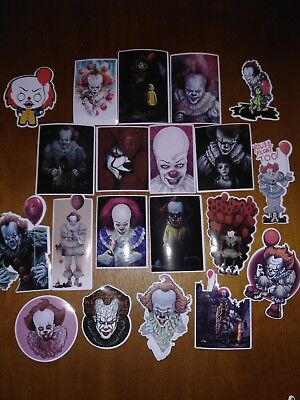 Sticker, Decals, It Movie Set, Lot of 20, 2x3, Stephen King, Pennywise, Horror