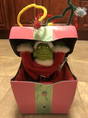 Vintage How the Grinch Stole Christmas Motion Gift Box