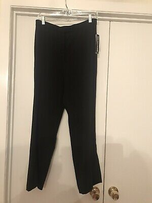 Briggs New York Size 10P Petite Black NWT Women's Dress Pants Stretch Waist
