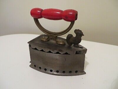 Medium Coal Iron with red Handle and Rooster Latch