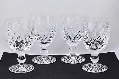 "Set Of 4 Waterford Crystal Donegal 4-3/4"" Claret Wine Glasses #1 - Mint"