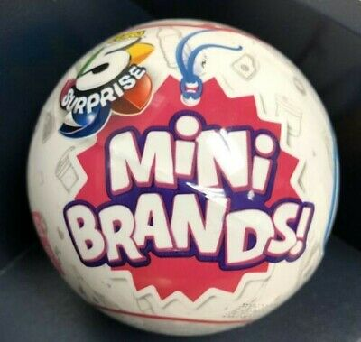 """(1) """"5 Surprise Mini Brands"""" Mystery (Ball) Capsule """"Toy by ZURU""""New Sealed"""