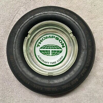 "Thompson ""Aircraft Tire Corp"" Rubber Tyre Ashtray."