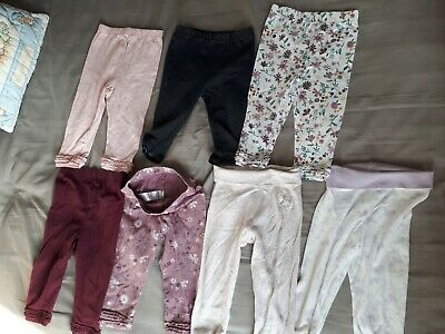 Baby Girl Leggings And Jogging Bottoms Bundle X 7 Size 9-12 Months