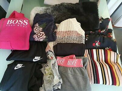 Girls Clothes Bundle Age 11 To 13- nike , hugo boss, M&S and new look