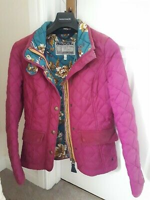 Ladies Joules Quilted Pink Coat Size 8 / XS