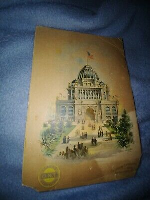 Chicago 1893 Columbian Exposition Administration Building Victorian Trade Card