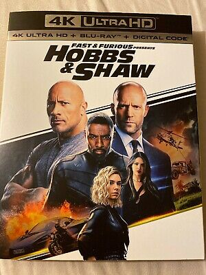Fast & Furious Presents HOBBS & SHAW ( Blu-ray Disc With 4K Case & Slipcover)
