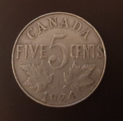 CANADA - 5 Cent, 1924 Canadian Nickel, George V, Best Offer x1