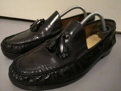 Vintage Bally Mens Italian Shoes Quality Leather Tassle Loafers Zubin 11/45 mod