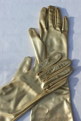 NEW - True Vintage 1950's DENTS Gold Long Evening Cocktail Gloves - Size 7.5