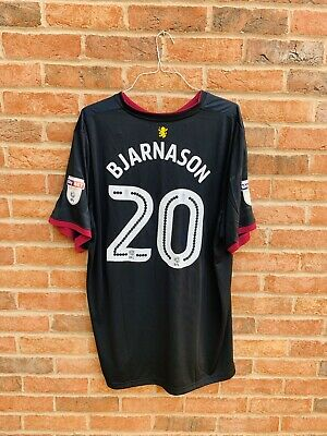Aston Villa FC Black 2017/18 Away Shirt #20 Bjarnason XXXXL 4XL