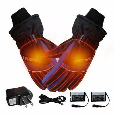 Electric Heated Gloves Warmer Hand USB Rechargeable Outdoor Motorcycle New I3N0J