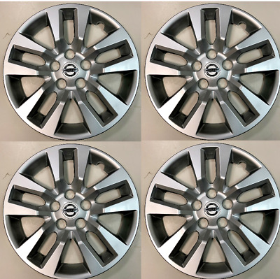"""4 NEW 16"""" Silver Hubcap Wheelcover that FITS 2013--2017 Nissan SENTRA hub cap"""