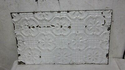 "Antique 24 "" 14 "" Salvaged  Detailed Victorian Metal Tin Ceiling Tile"