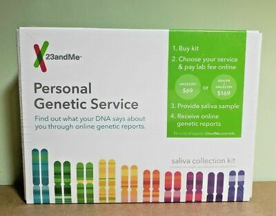 23andMe Genetic Service Ancestry Health DNA Test Saliva Collection Kit Only