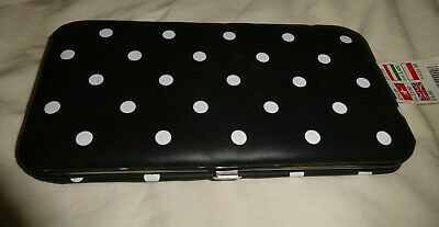 Black & White Spotty Wallet ~  Oil Cloth Style Dotty Purse ~ Claire's ~ BNWT