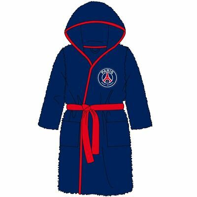 Childrens Paris Saint Germain PSG Fleece Robe Kids Dressing Gown Age 5-6 Years