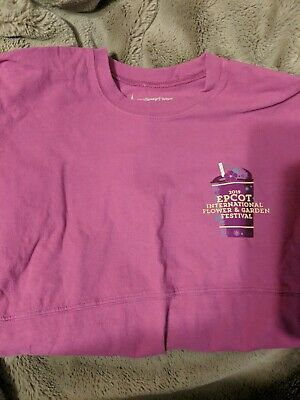 Disney Park Epcot Flower and Garden Festival 2019 Spirit Jersey Medium Purple 24