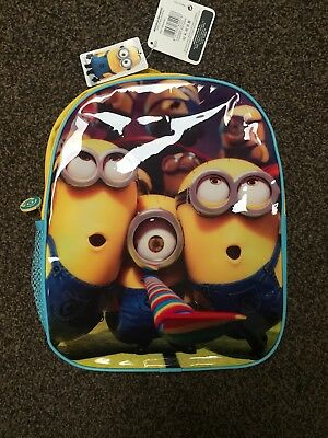 Minions Despicable Me Kids Glossy Backpack Bag. Boys Girls. Brand New With Tags