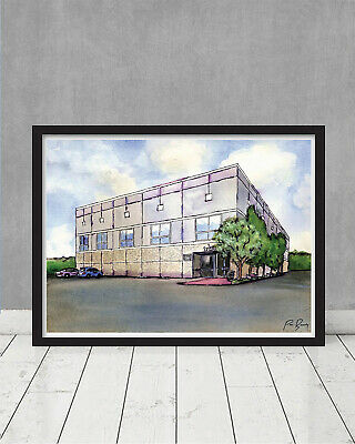 The Office Pam's Watercolor Painting Dunder Mifflin Scranton Christmas Gift Prop