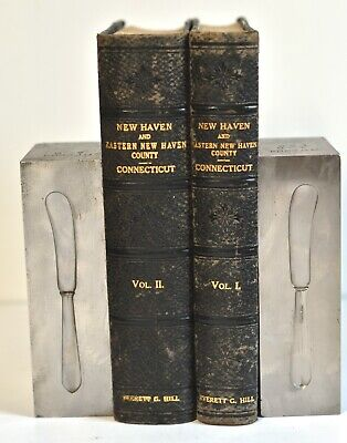 Lunt sterling Early American butter knife industrial factory die mold bookends