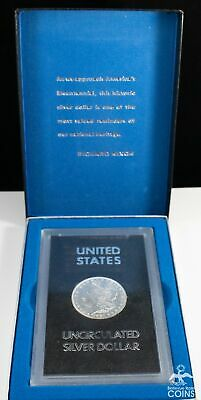 1887 USA Morgan Silver Dollar Uncirculated in Capitol Holder w/Box (ASW 0.77 oz)