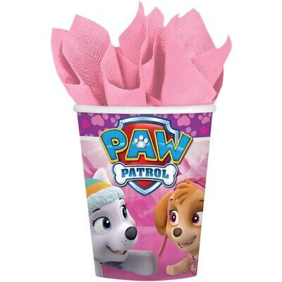 Paw Patrol Girls Cups Pack Of 8 Birthday Party Supplies