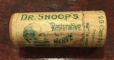 Early 1900's Quack Medicine Container—Dr. Shoop's Restorative Nerve Pills—As Is
