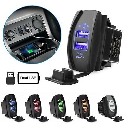 5V 3.1A Dual USB Socket Charger Power Adapter Car Motorcycle USB Adapter Outlet