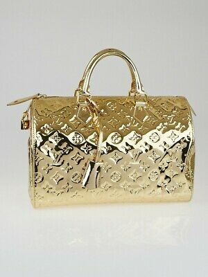 Authentic Louis Vuitton Speedy 30 Handbag Monogram Miroir Limited Edition M95272