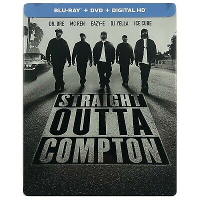 Straight Outta Compton Steelbook - Limited Edition Blu-Ray **Small Dents**